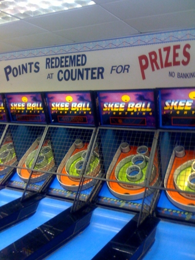 Skeeball at Santa Monica Pier